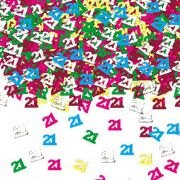 21st Birthday Party multi coloured Table Confetti 14g